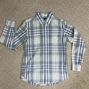 Banana Republic Plaid Button-Up Dress Shirt